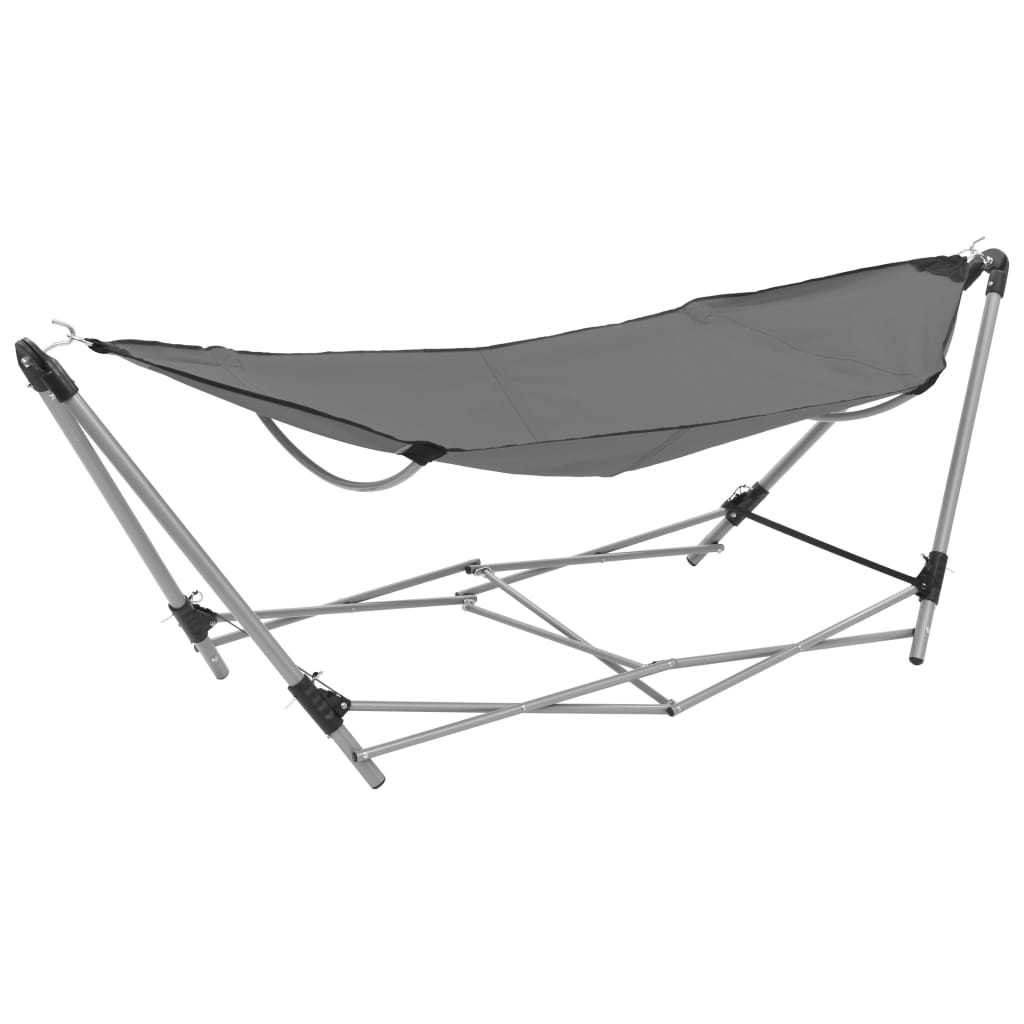 Hammock with Foldable Stand Grey 1