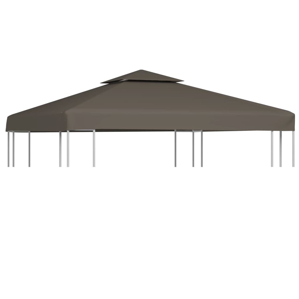 2-Tier Gazebo Top Cover 310 g/m² 3×3 m Taupe 1