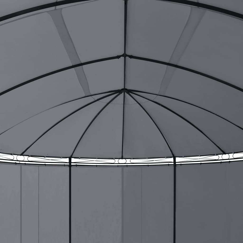 Gazebo with Curtains 530x350x265 cm Anthracite 3