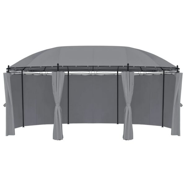 Gazebo with Curtains 530x350x265 cm Anthracite 4