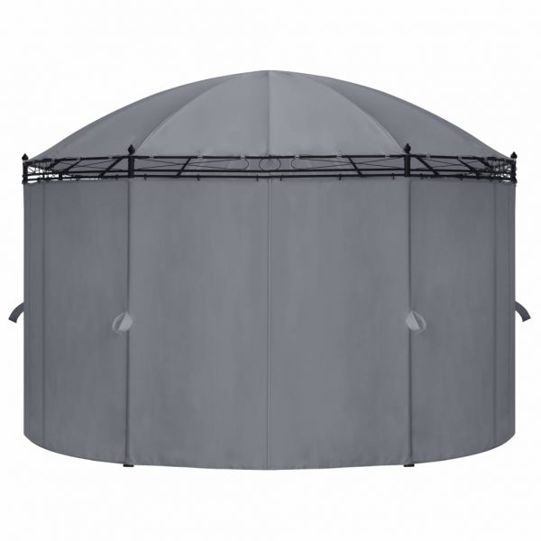 Gazebo with Curtains 530x350x265 cm Anthracite 5