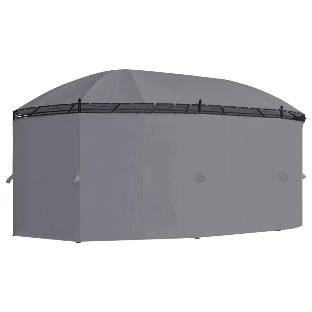 Gazebo with Curtains 530x350x265 cm Anthracite 6