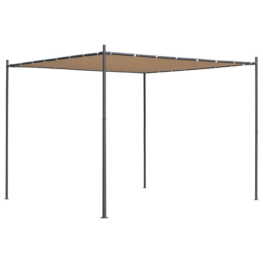 Gazebo with Flat Roof 3x3x2,4 m Beige 1