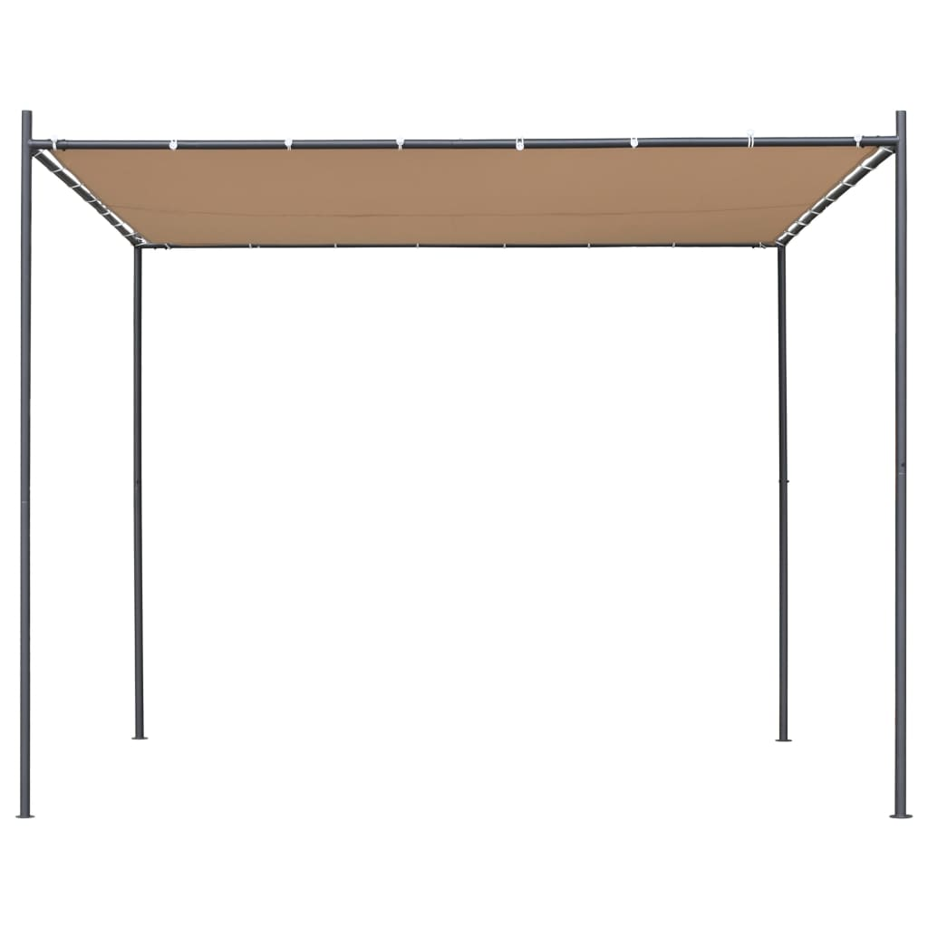 Gazebo with Flat Roof 3x3x2,4 m Beige 2