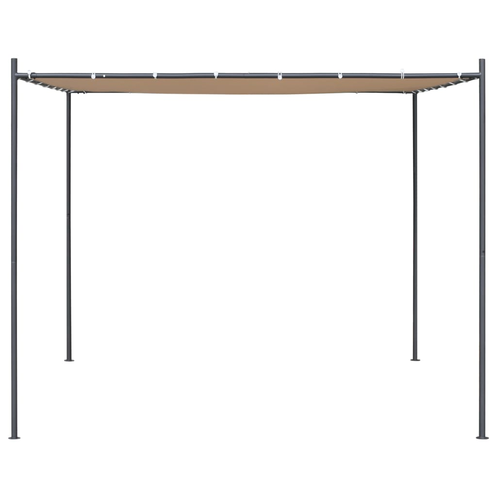 Gazebo with Flat Roof 3x3x2,4 m Beige 3
