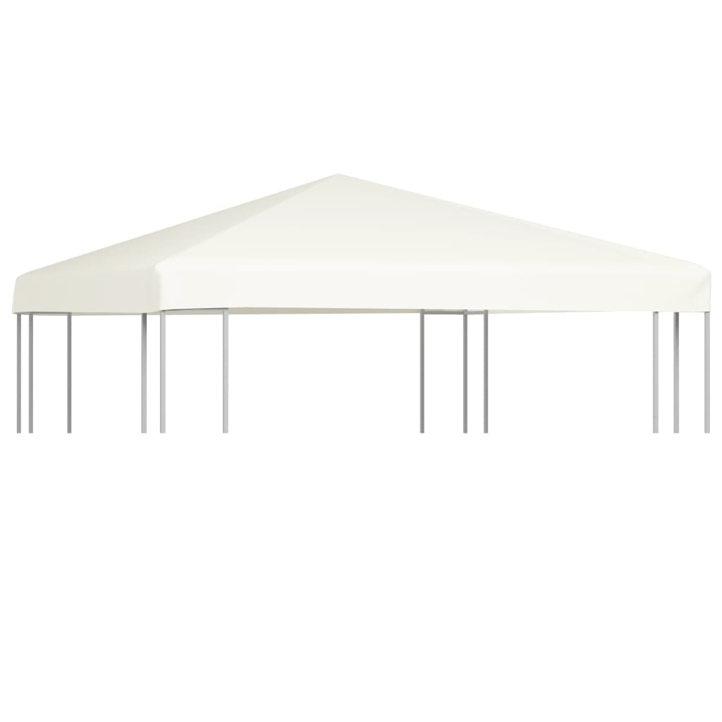 Gazebo Top Cover 310 g/m² 3x3 m Cream White