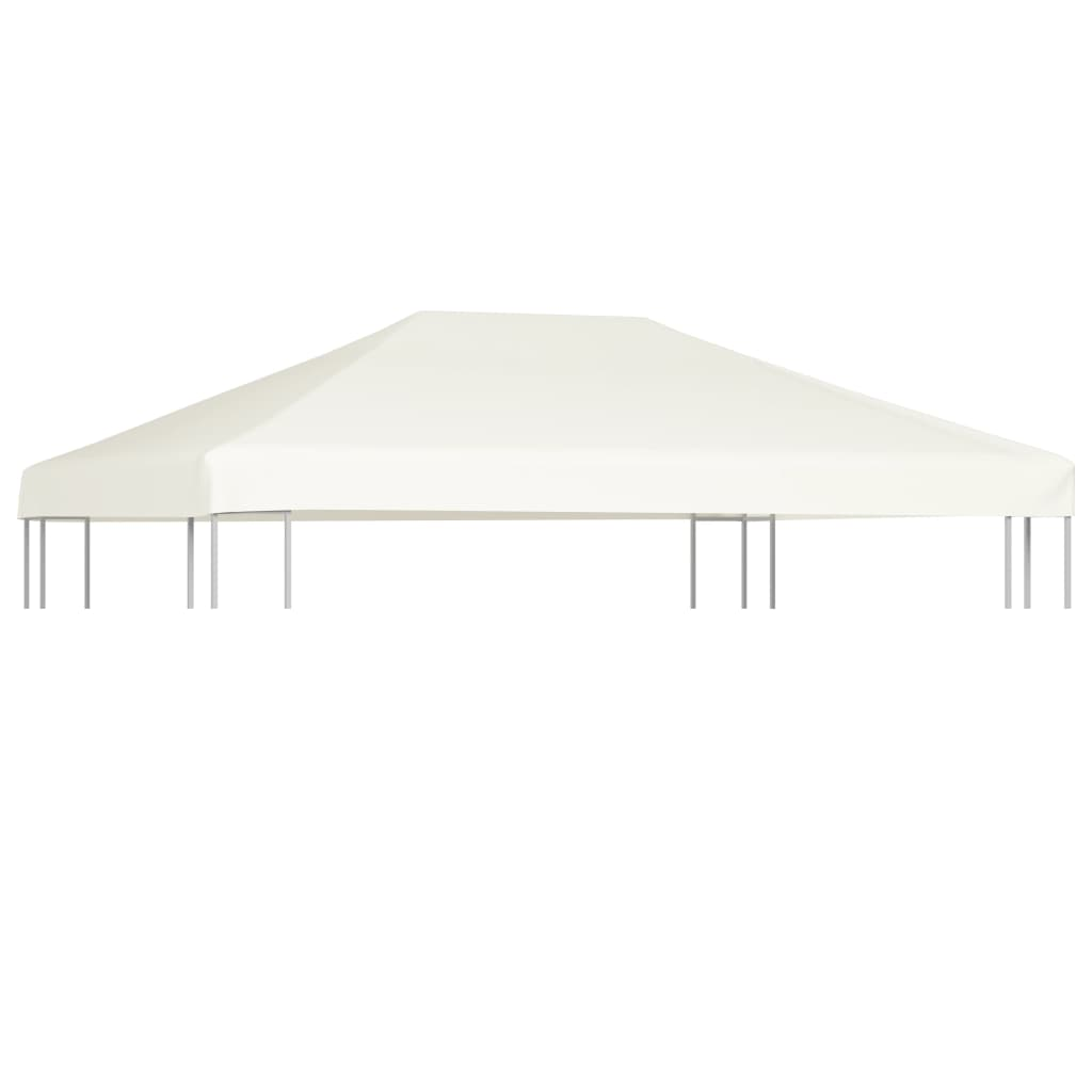 Gazebo Top Cover 310 g/m² 4×3 m Cream White 1