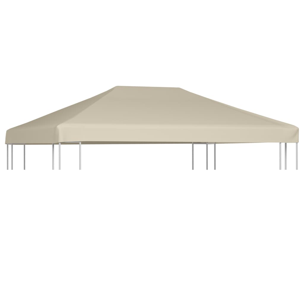 Gazebo Top Cover 310 g/m² 4x3 m Brown