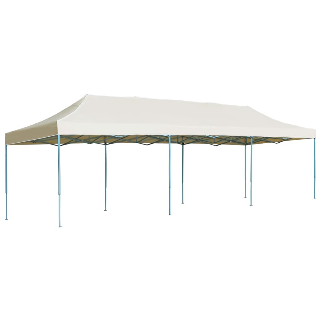 Folding Pop-up Party Tent 3×9 m Cream 1