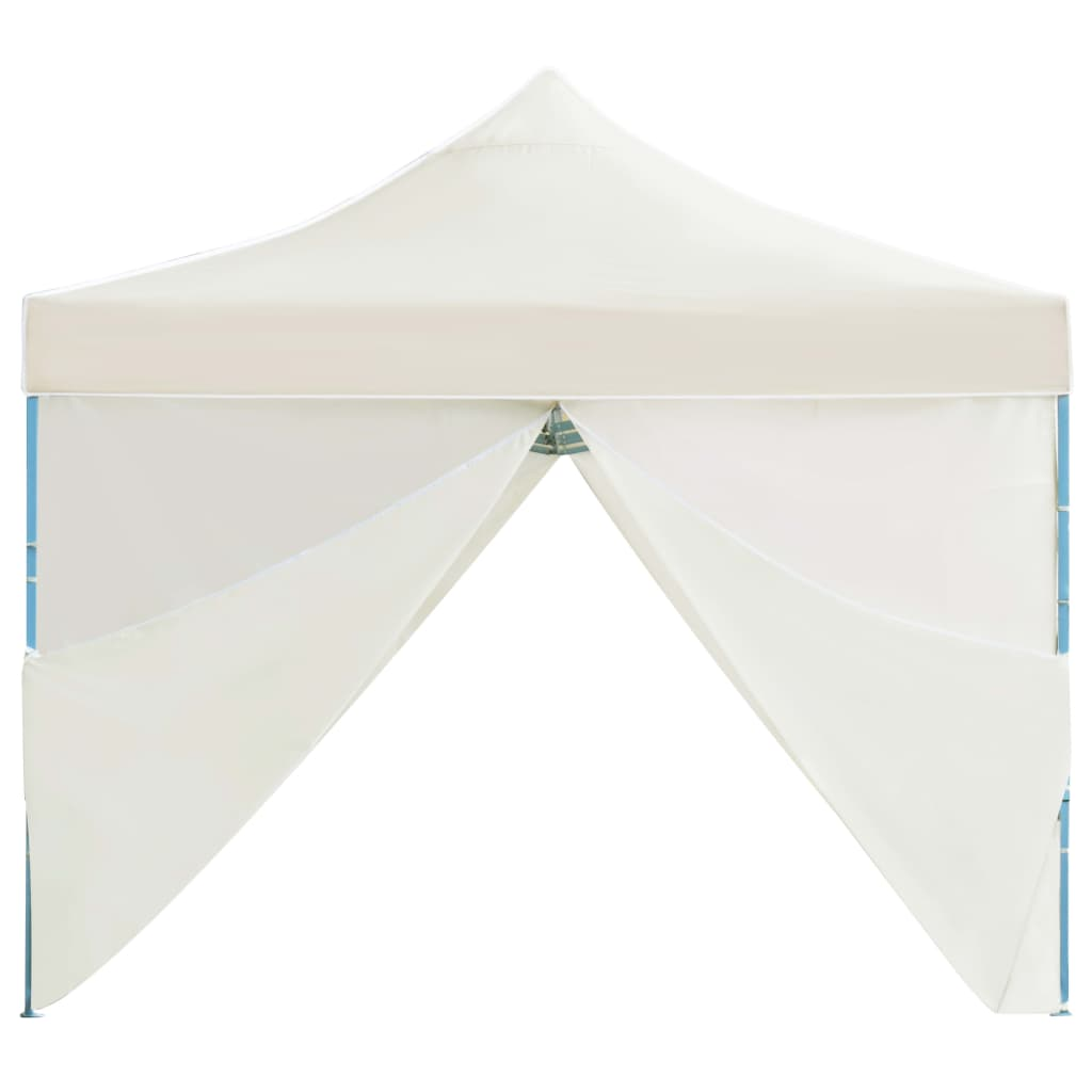 Folding Pop-up Party Tent with 8 Sidewalls 3×9 m Cream 8