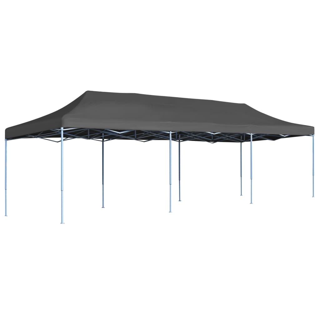 Folding Pop-up Party Tent 3x9 m Anthracite