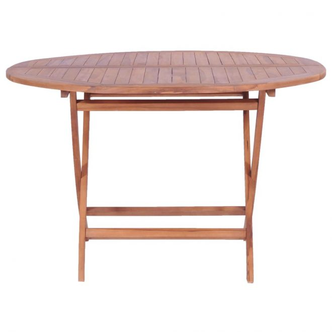 Folding Garden Table 120×75 cm Solid Teak Wood 2