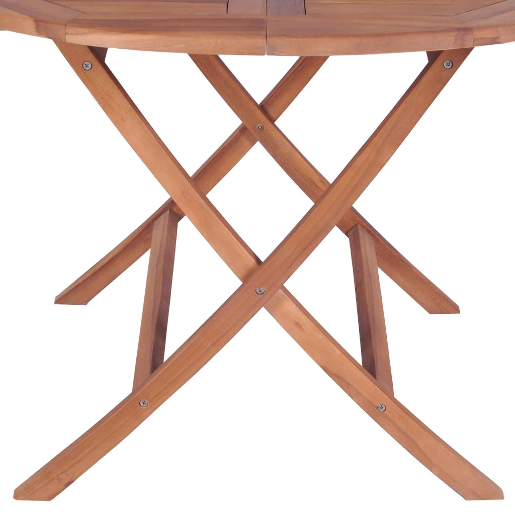 Folding Garden Table 120×75 cm Solid Teak Wood 5