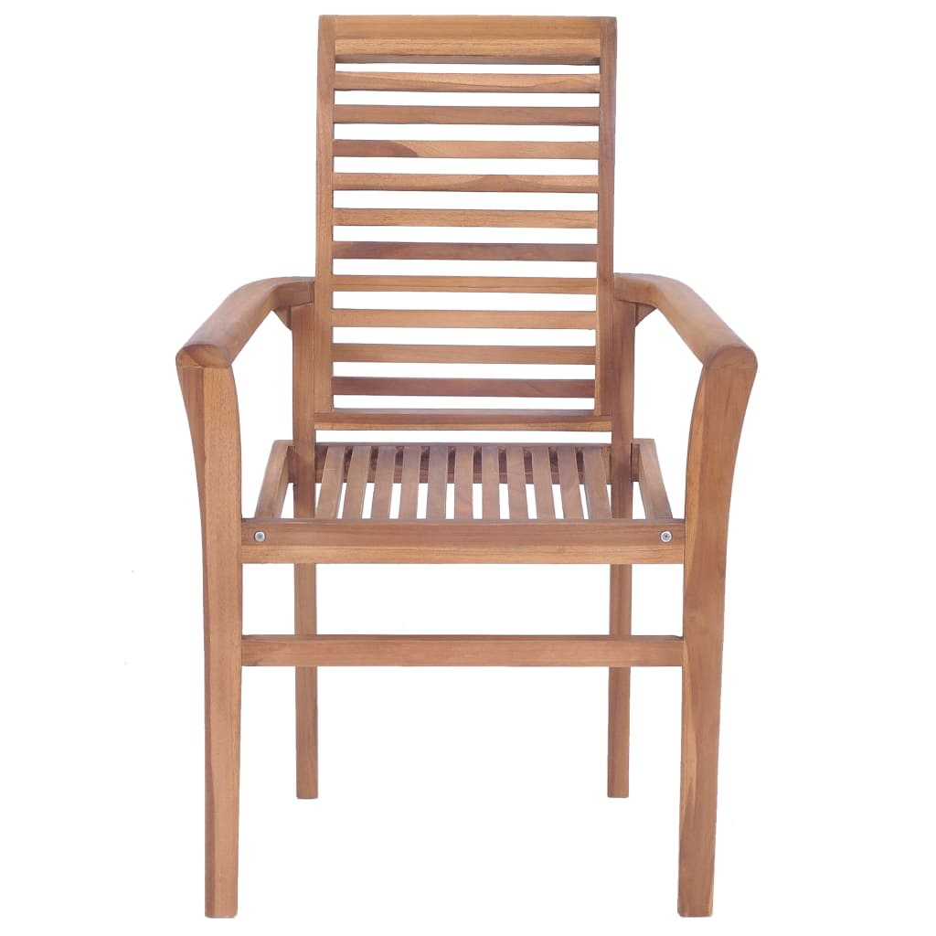 Stacking Dining Chairs 4 pcs Solid Teak 4