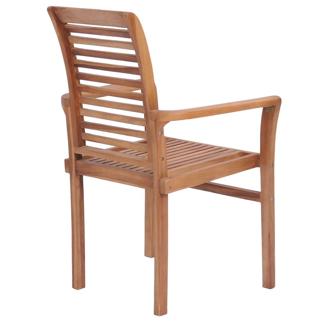 Stacking Dining Chairs 4 pcs Solid Teak 7
