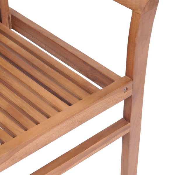 Stacking Dining Chairs 4 pcs Solid Teak 8