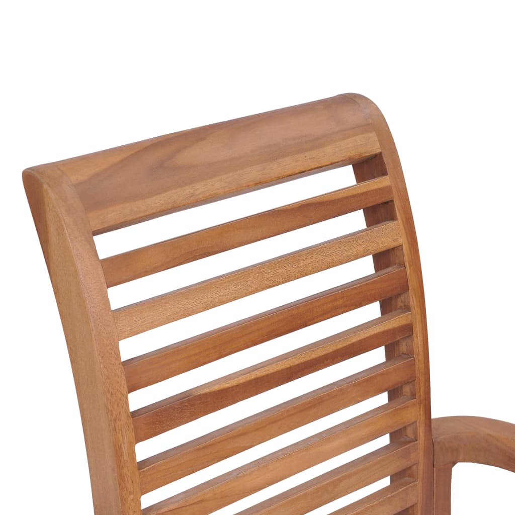 Stacking Dining Chairs 4 pcs Solid Teak 9