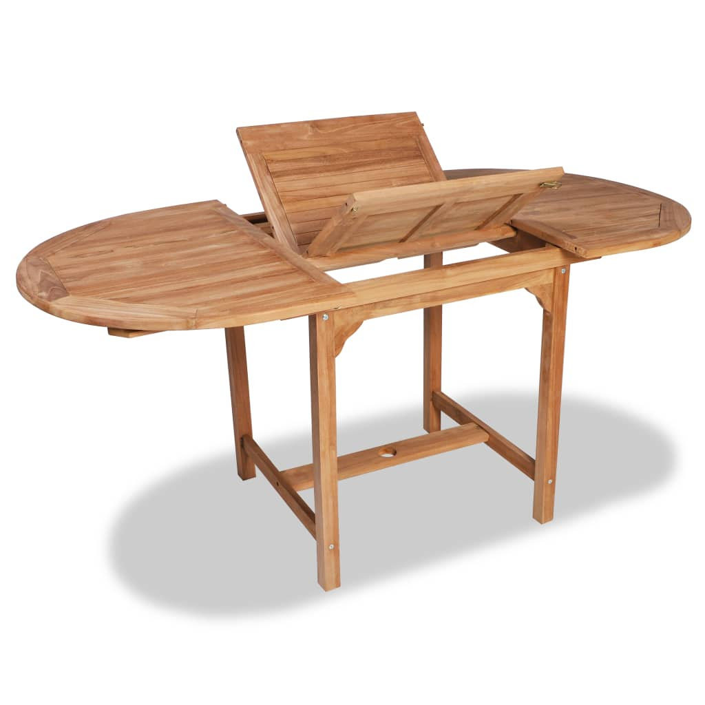 Extending Garden Table (110-160)x80x75cm Solid Teak Wood