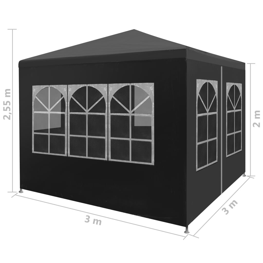 Party Tent 3×3 m Anthracite 3