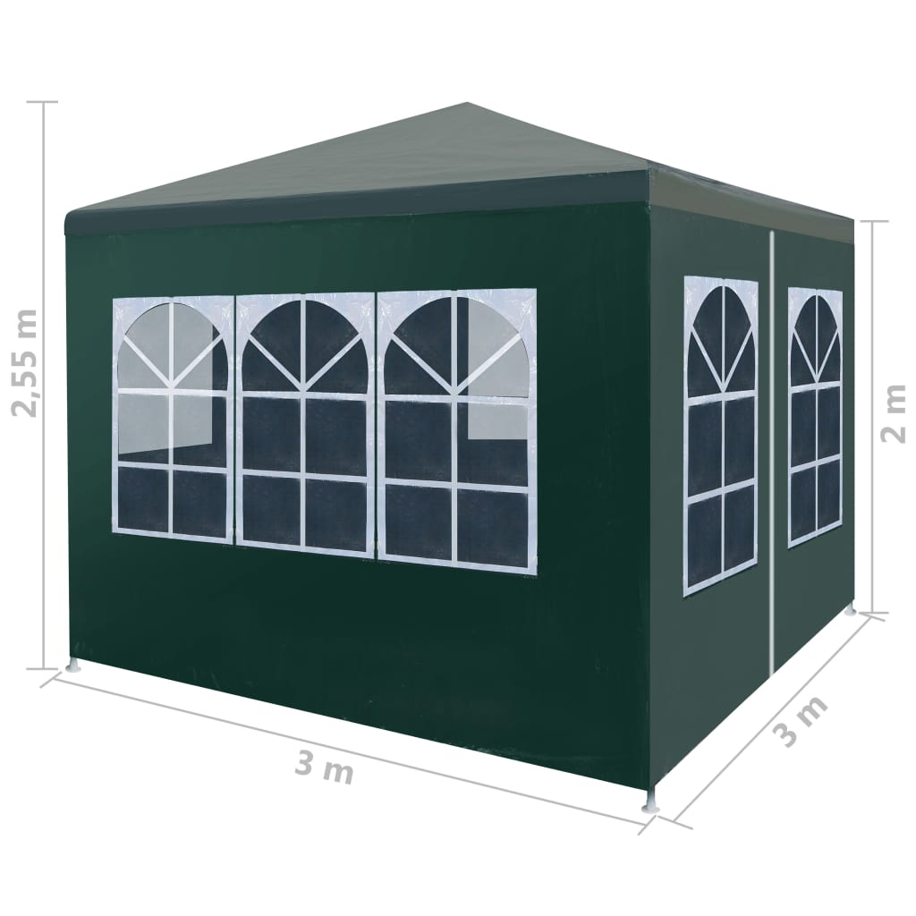Party Tent 3×3 m Green 8