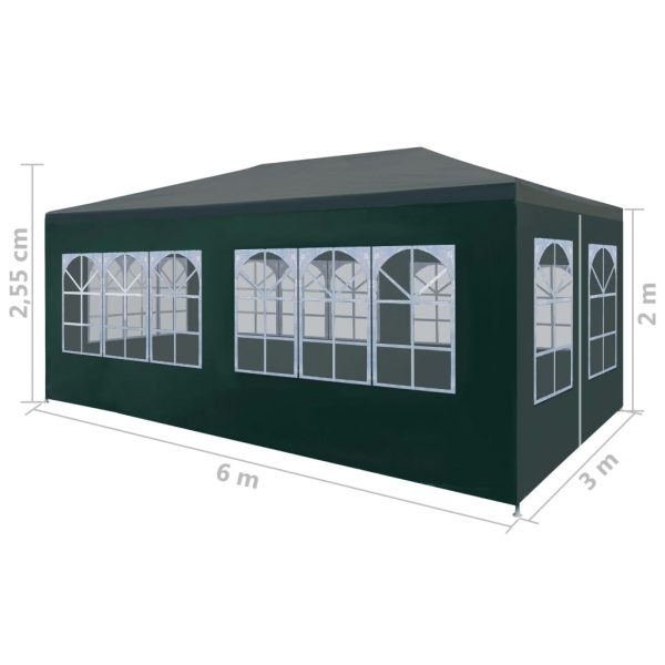 Party Tent 3×6 m Green 8