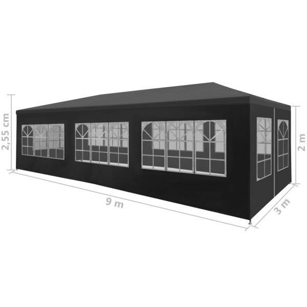 Party Tent 3×9 m Anthracite 8