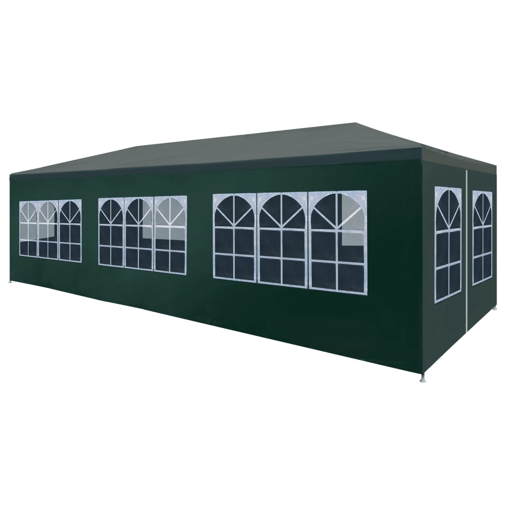 Party Tent 3x9 m Green