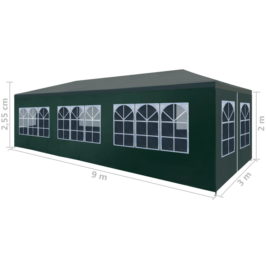 Party Tent 3×9 m Green 8