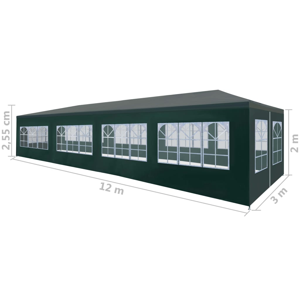 Party Tent 3×12 m Green 8