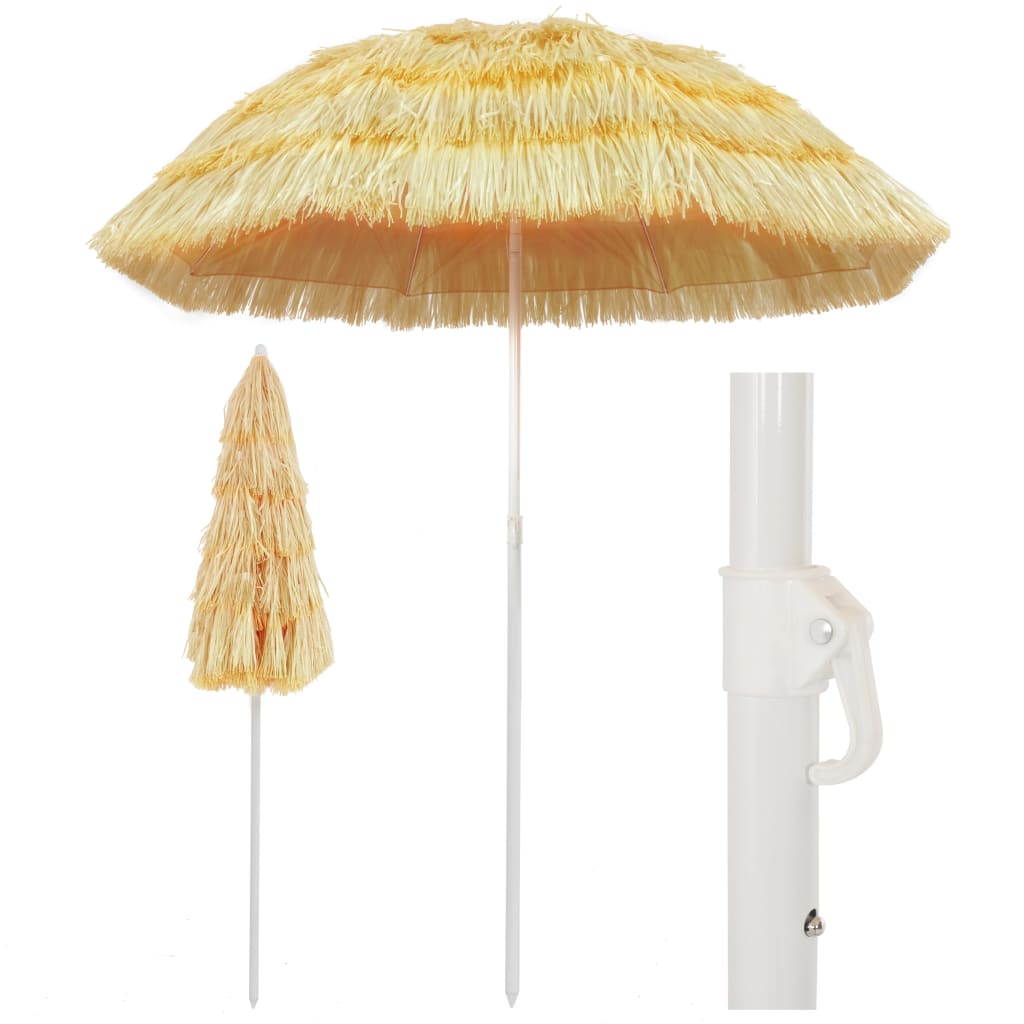Beach Umbrella Natural 180 cm Hawaii Style