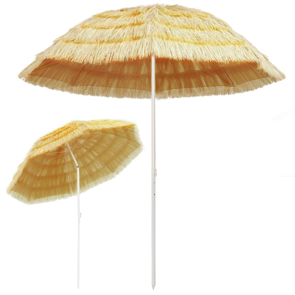 Beach Umbrella Natural 240 cm Hawaii Style 3