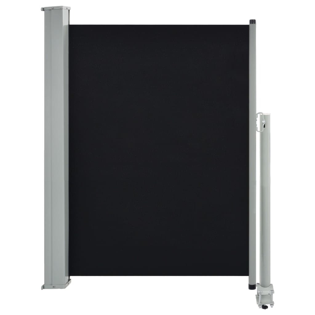Patio Retractable Side Awning 100 x 300 cm Black 2