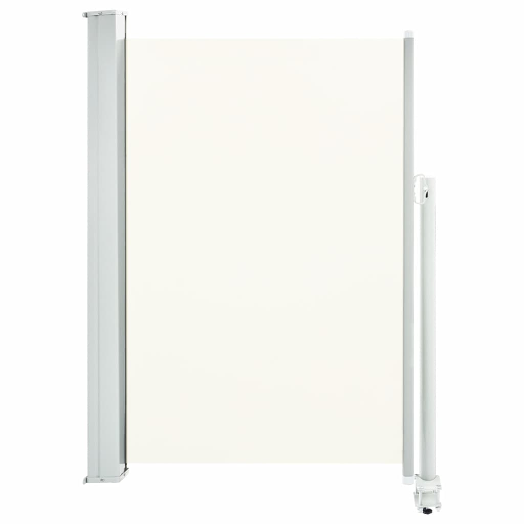 Patio Retractable Side Awning 120 x 300 cm Cream 2