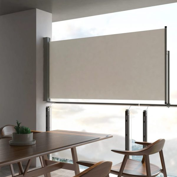 Patio Retractable Side Awning 120 x 300 cm Cream 1