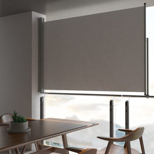 Patio Retractable Side Awning 160 x 300 cm Grey 1
