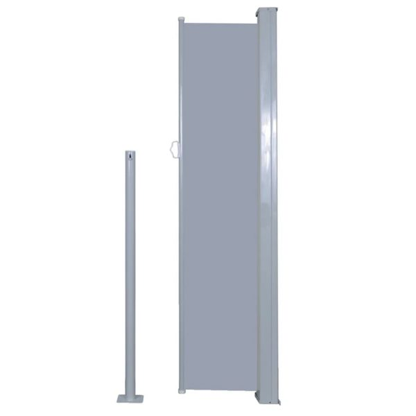 Retractable Side Awning 140 x 300 cm Grey 5