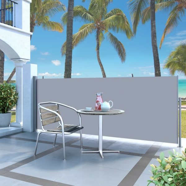 Retractable Side Awning 140 x 300 cm Grey 1