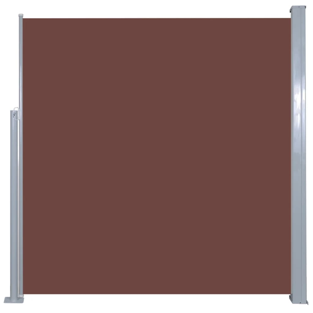 Retractable Side Awning 140 x 300 cm Brown 2