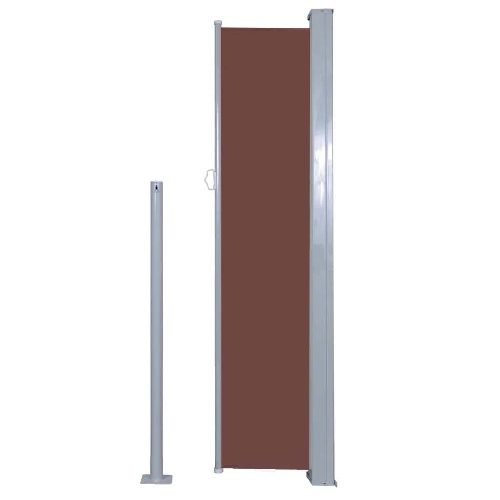 Retractable Side Awning 140 x 300 cm Brown 5