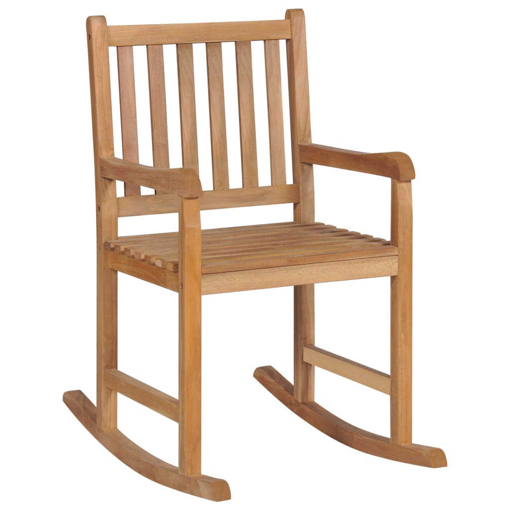 Rocking Chair Solid Teak Wood 1
