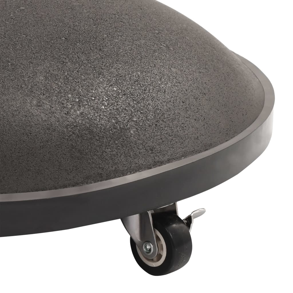 Parasol Base Black Concrete Round 25 kg 6