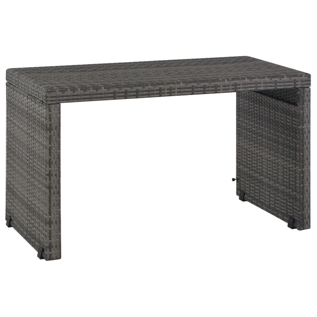 3 Piece Outdoor Dining Set with Cushions Poly Rattan Grey 7