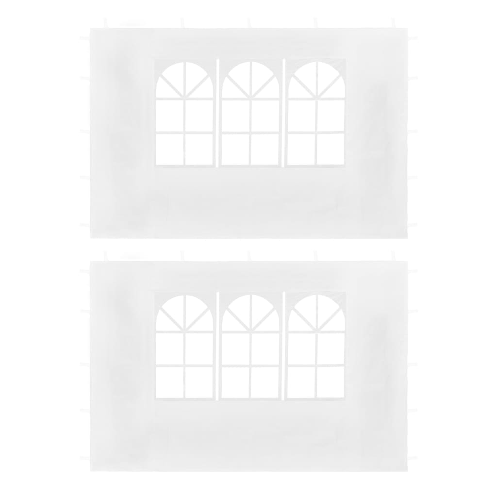 Party Tent Sidewalls 2 pcs with Window White