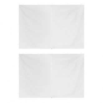 Party Tent Doors 2 pcs with Zipper White 1