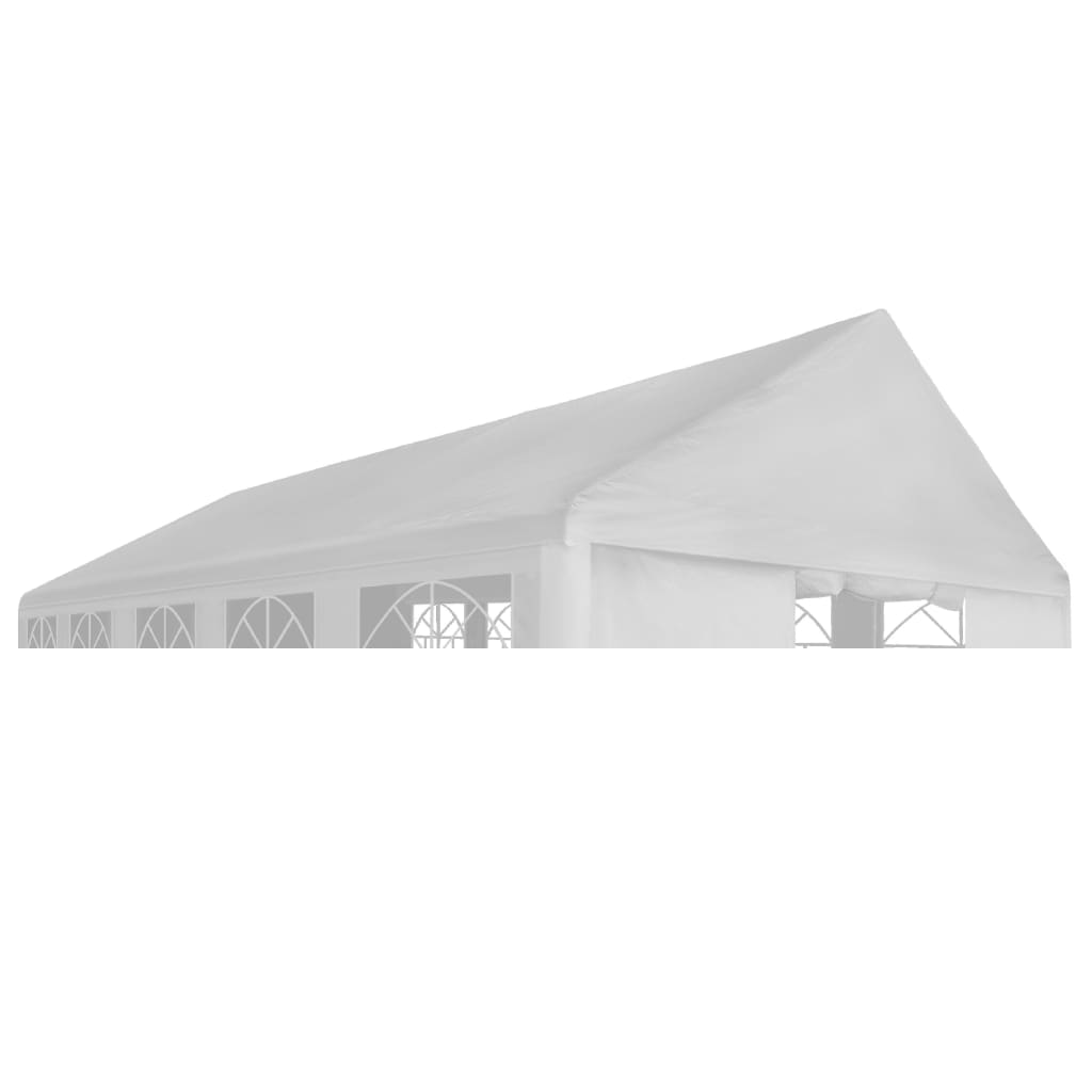 Party Tent Roof 4 x 8 m White