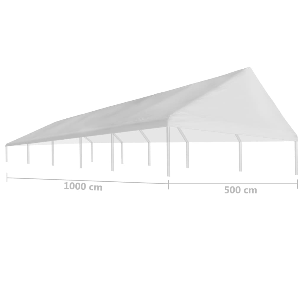 Party Tent Roof 5 x 10 m White 4
