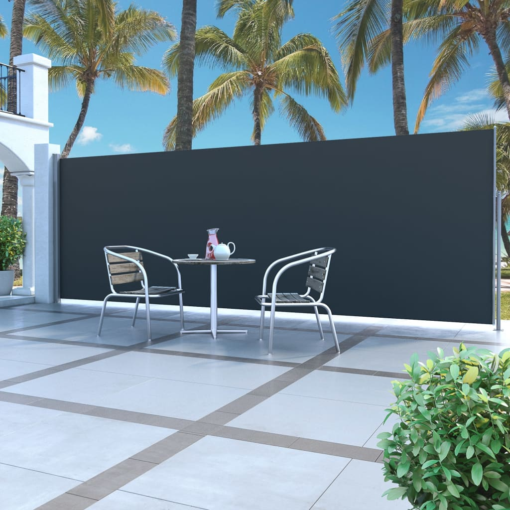 Retractable Side Awning 160 x 500 cm Black 1