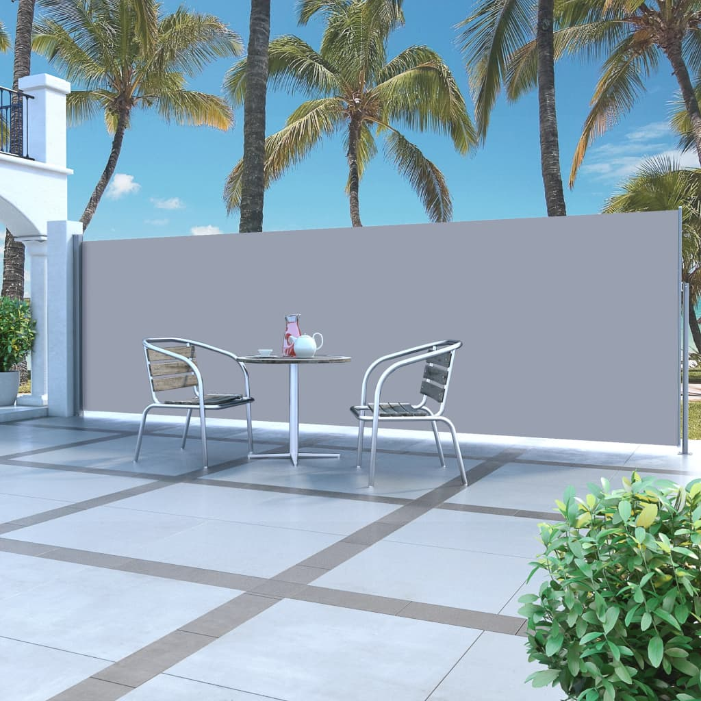 Retractable Side Awning 160 x 500 cm Grey 1