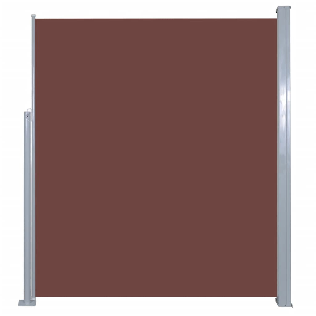 Retractable Side Awning 160 x 500 cm Brown 2