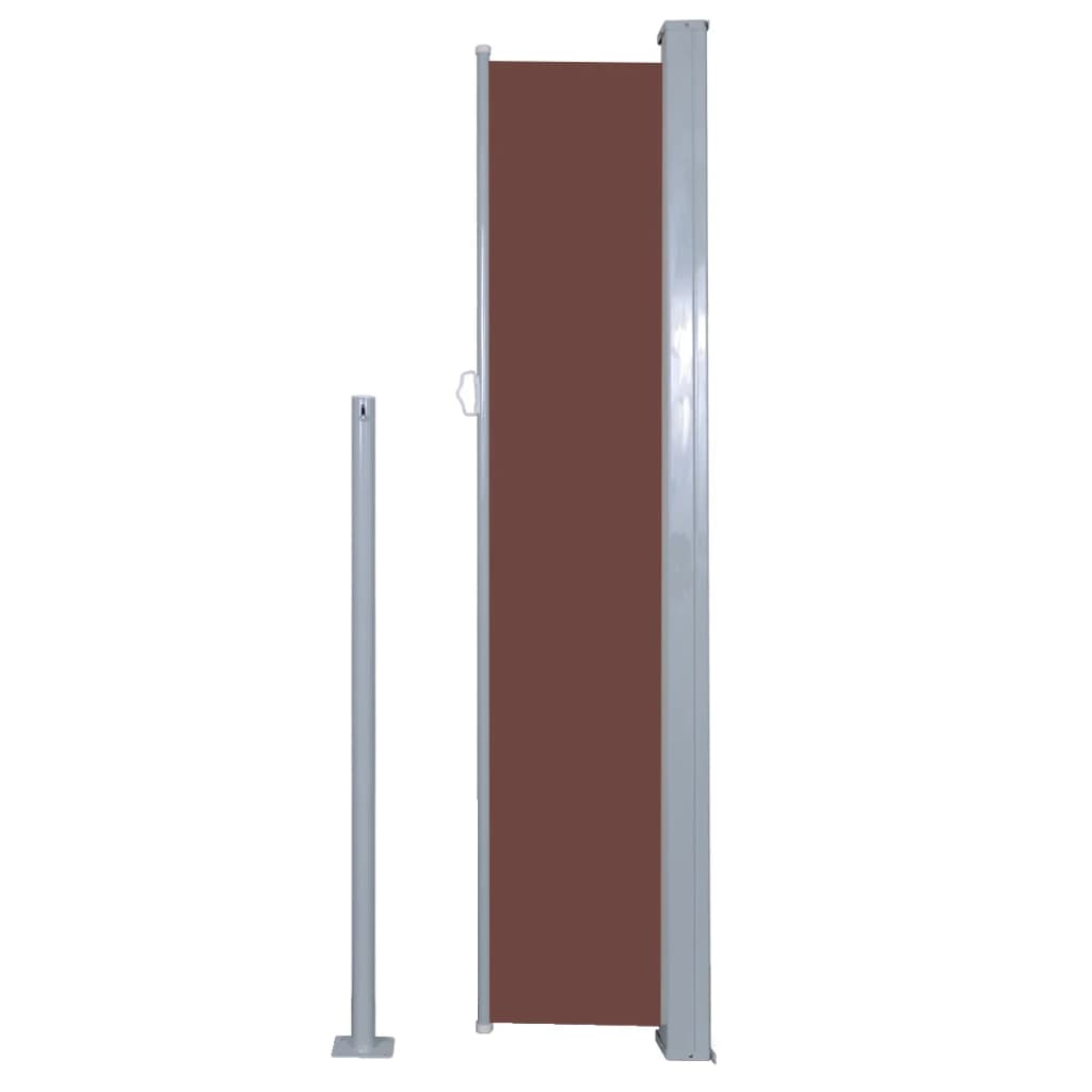 Retractable Side Awning 160 x 500 cm Brown 5